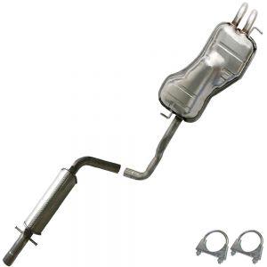 2001 VW Golf GL 2.0L Stainless Steel Resonator Muffler Exhaust System Kit